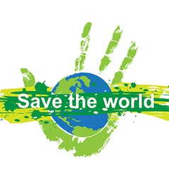 save world concept vector image vector image