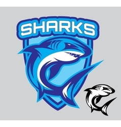 stylish emblems for sports teams with a vector image vector image