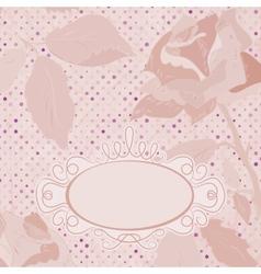 Vintage Floral Roses Card vector image vector image