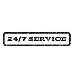 24-7 service watermark stamp vector image
