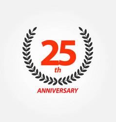 25th anniversary template design vector