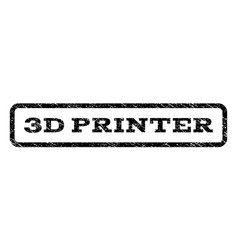 3d printer watermark stamp vector image