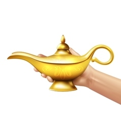 Aladdin Lamp And Hand vector image