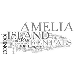 amelia island bed breakfast text word cloud vector image