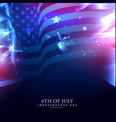 American flag in abstract background vector