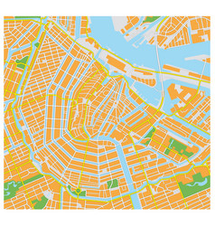 amsterdam city map vector image