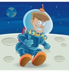 astronaut at moon vector image