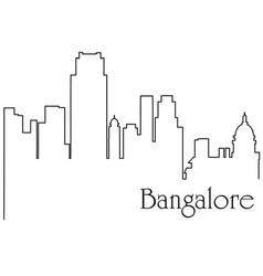 Bangalore city one line drawing vector