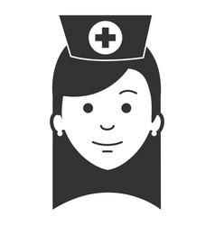 beutiful nurse head avatar character vector image