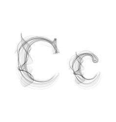 Black Smoke font Letter C vector image