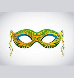 brazil mask design vector image