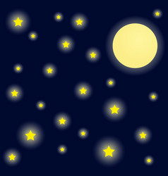 Bright night sky background vector