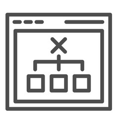 browser with choice line icon computer decision vector image
