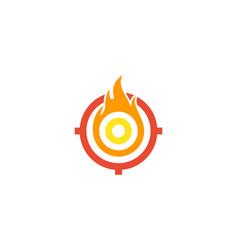 burn target logo icon design vector image