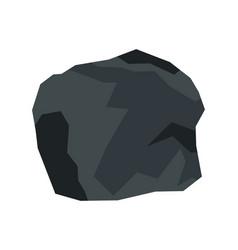 Cartoon stone in white background vector