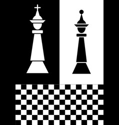 chess flyer in black and white design white chess vector image