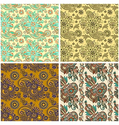 Collection of seamless wallpaper background vector