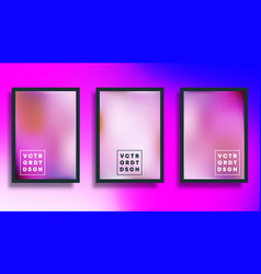 colorful gradient texture background set for flyer vector image