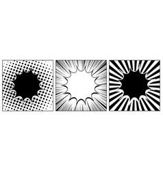 Comic monochrome composition vector