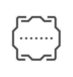 computer chip cover icon vector image