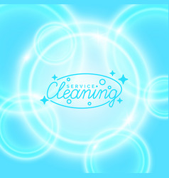 Conceptual poster and the logo for cleaning vector