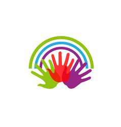creative group hands logo vector image