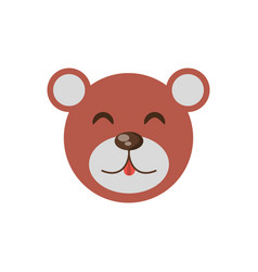 cute face bear animal cheerful vector image