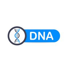 dna badge icon stamp logo vector image