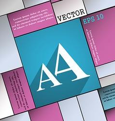 Enlarge font AA icon symbol Flat modern web design vector
