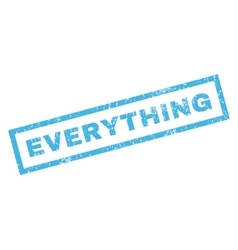 Everything Rubber Stamp vector image