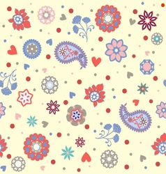 Florals pattern beautiful background vector