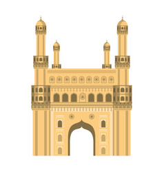 Gateway indian national building isolated vector
