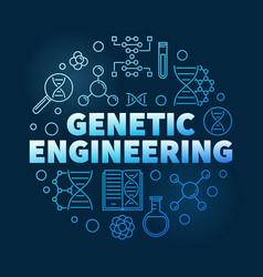 Genetic engineering circular linear blue vector