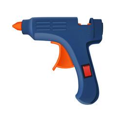Glue pistol icon realistic style vector