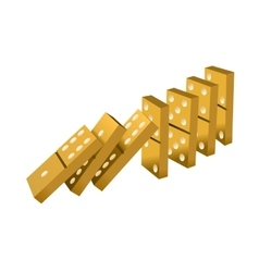 Gold dominoes vector