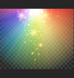 gradient spectrum rainbow lights vector image