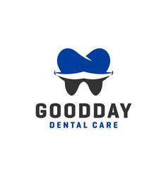 human dental health logo design vector image