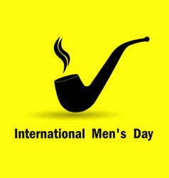 international mens day smoking pipe with shadow vector image
