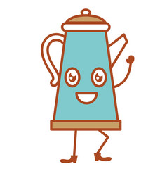 Kitchen kettle kawai character vector