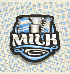 logo for natural milk vector image