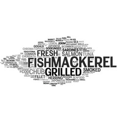 Mackerel word cloud concept vector