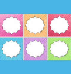 multi color comic style background with copy vector image