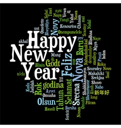 New Year Tag Cloud vector image