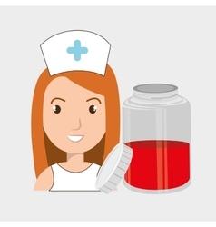 Nurse crooss smartphone graphic vector