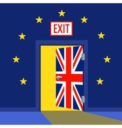 Open Brexit Door with the UK flag vector