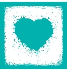 Paint blue heart from vintage texture paper vector
