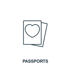 Passports outline icon premium style design from vector