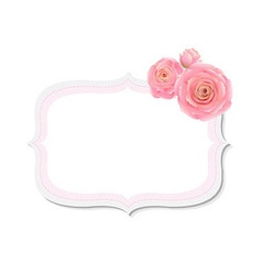 Pastel Pink Rose Label vector image