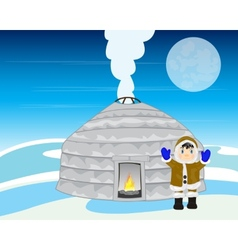 Persons beside plague in winter vector
