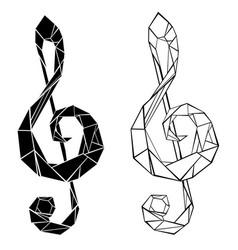 polygonal musical symbol vector image